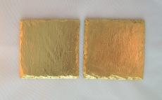 2er-Set Glasuntersetzer vergoldet, Schiefer