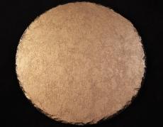 Servierplatte / Untersetzer vergoldet mit Platingold, Schiefer
