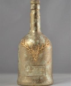 Dekoflasche / Kerzenhalter / Blumenvase, vergoldet mit Platingold