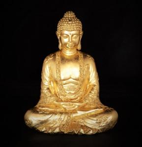 Vergoldete Buddha-Figur