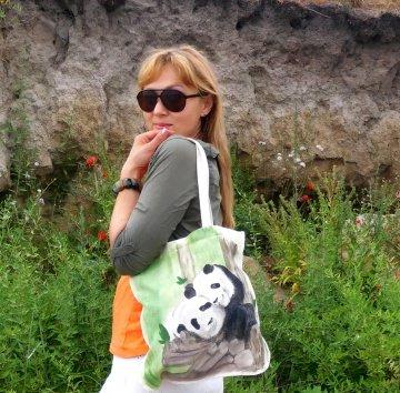 Verliebte Pandas` - Natürliche Tasche