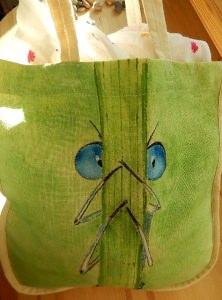 Libelle hinter dem Grashalm Ökobeutel