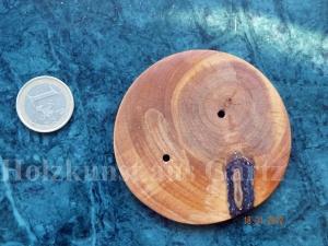 Großer Knopf aus Holz mit Asteinschluss - Einzelstück - sehr dekorativ - Handarbeit kaufen