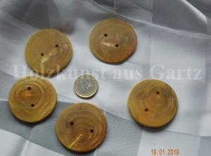5 Holzknöpfe aus stabilisiertem Apfelholz, sehr stabil und dekorativ - Handarbeit kaufen