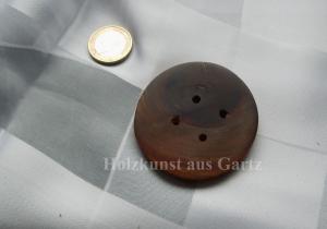 Großer  Knopf aus Kirschholz , dunkel, naturbelassen - Handarbeit kaufen