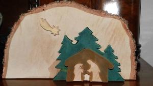 Weihnachtskrippe aus Holz ★40cm ★Unikat★handgefertigt