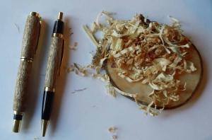 Schreibset aus Maserpappel - eine hochwertige  Handarbeit