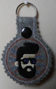 Schlüsselanhänger Bearded Men Wollfilz