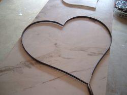 XL Herz aus Metall extra groß zum kränzen einbinden mit Grün - Geburtstag - Jubiläum - Hochzeit