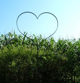 XL Herz aus Rundeisen mit Stab - Gartenstecker - Ø 65 cm - für jeden Anlass - Handarbeit kaufen