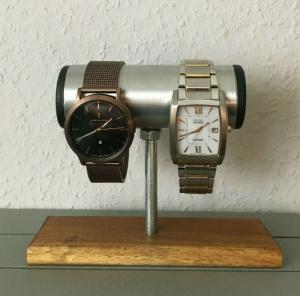 Uhrenhalter - Uhrenständer - Uhrenaufsteller - Halter für Uhren aus Holz und Alu