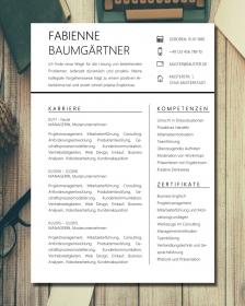 Anpassbare Word Bewerbungsvorlage FABIENNE BAUMGÄRTNER