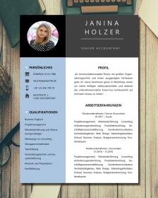 Anpassbare Word Bewerbungsvorlage JANINA HOLZER