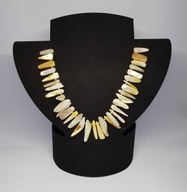 Perlmutt Halskette, Länge 41cm,  handgeknüpft