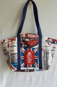 Große Tasche zum Einkaufen mit London-Motiv
