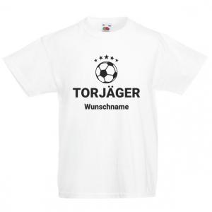 TORJÄGER mit Wunschnamen  - Fun Shirt für Jungen und Mädchen - Personalisiertes T-Shirt