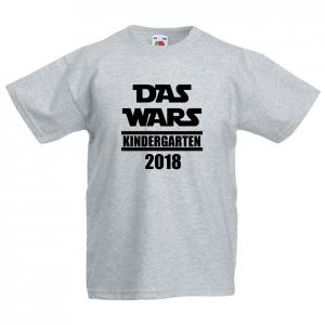 DAS WARS - KINDERGARTEN 2019    - Fun Shirt für Jungen und Mädchen - Personalisiert - KINDERGARTEN