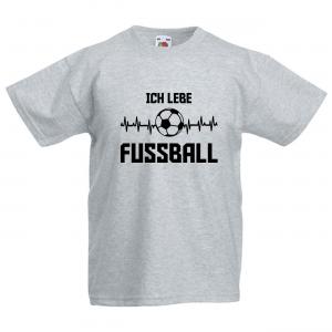 ICH LEBE FUSSBALL - Fun Shirt für Mädchen und Jungen - Personalisiert - Fussball T-Shirt