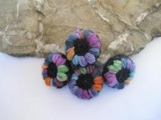 Blütenknöpfe Häkelknöpfe Farbtupfer