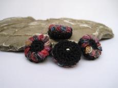 Blütenknöpfe Häkelknöpfe Knöpfe Buttons, Farbtupfer, Häkelaccessoires