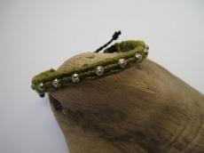 Feines Armband Macrame in Grün, Macrameschmuck, Armband