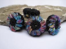 Blütenknöpfe Häkelknöpfe, Knöpfe, Buttons, Accessoires
