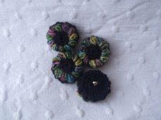 Blütenknöpfe Häkelknöpfe, Knöpfe, Button, Accessoire