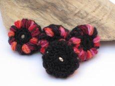 Blütenknöpfe Häkelknöpfe, Knöpfe, Buttons für Strickjacken