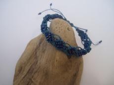 Macramearmband blue and blue..., Makrameeschmuck, Armband