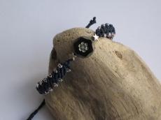 Macramearmband mit böhmischer Glasperle, Armband, Macrameschmuck