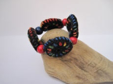 Kinderarmband aus Häkelrondellen, Kinderschmuck, Armband, Textilschmuck