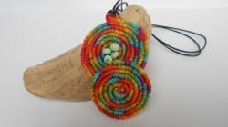 Häkelkette bunte Spirale, Textilschmuck, Häkelschmuck, Halskette