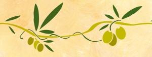 Wandschablone Olivenzweig 1 für DIY im mediterranen Landhausstil (40 x 15 cm)