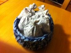 Frisch gefüllte Lavendelsäckchen