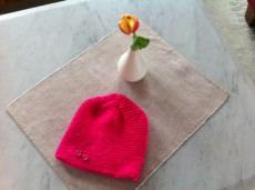 Babymütze Handarbeit in Pink