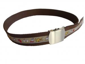 Kindergürtel Ritter - brauer Gürtel mit Schiebeschnalle CasaFarbenfroh