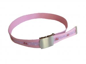Kindergürtel mit Pilzen - rosa Gürtel mit Schiebeschnalle CasaFarbenfroh