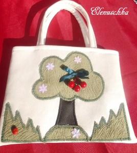 Kinderhandtasche Baum mit Kirsche