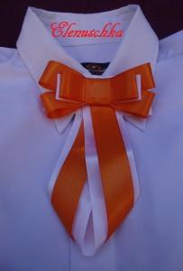 Set für Mädchen: kurze Rock aus Baumwolle + Halsbroschen / Krawatten + Handtasche.