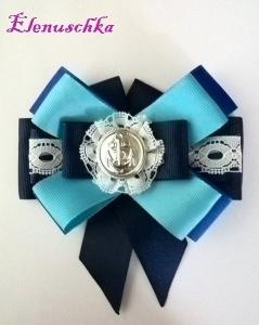 Halsbrosche Marine blau