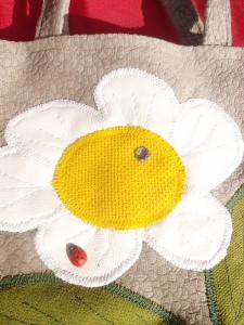 Kinderhandtasche mit weiße Blume