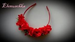 Haarreifen rote Rosen