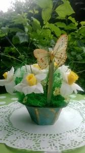 """Blumenstrauß mit Süßigkeiten """"Narzisse"""". NEU!!!"""