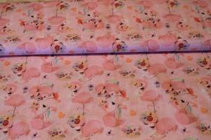 Baumwolle -Flamingo- - Handarbeit kaufen