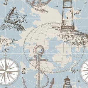 Deko Baumwolle -Sailing around the World- Made in Spain - Handarbeit kaufen
