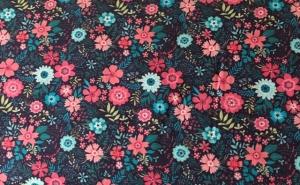 Baumwolle -Flowers-  - Handarbeit kaufen