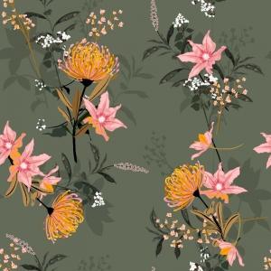 Jersey  -Exotische Blumen- Premium Collection