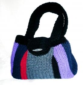 gehäkelte Handtasche aus 100 % Baumwolle, eigenes Design, Unikat