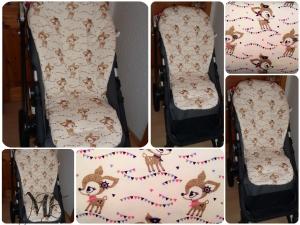 ♥♥♥ Kinderwagen Sitzauflage Hafenkitz Gold Edition ♥♥♥