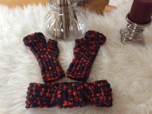 Freches Winterset- Stirnband und Handstulpen  - Handarbeit kaufen